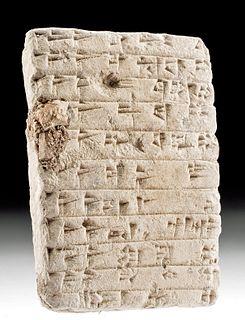 Translated Babylonian Clay Cuneiform School Tablet