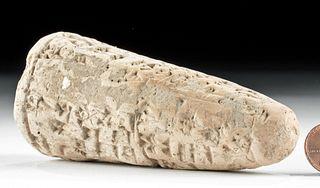 Translated Sumerian Clay Foundation Cone - Ishme Dagan
