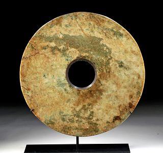 Chinese Neolithic Liangzhu Nephrite Jade Bi Disc
