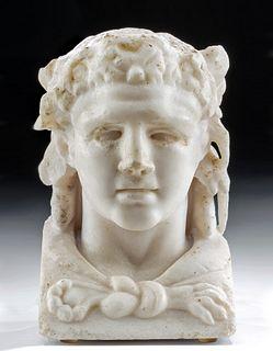 Roman Marble Herm of Hercules - ex Royal Athena