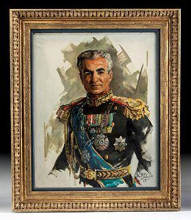 Exhibited, Framed Draper Portrait - Shah of Iran, 1967