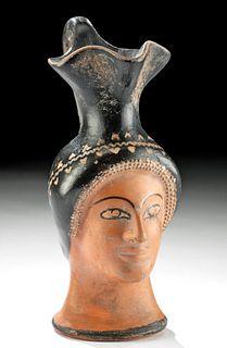 Elegant Greek Attic Figural Oinochoe of a Lady, TL Test
