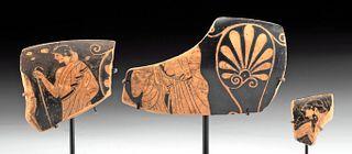 Greek Attic Red-Figure Kylix Fragments - Douris Painter