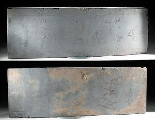 Chinese Han Dynasty Clay Tomb Panels (pr), TL Tested