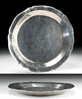 18th C. Spanish Colonial Silver Charger - 1089 grams
