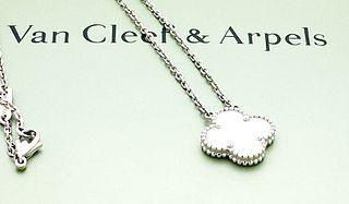 Van Cleef & Arpels 18k Vintage Alhambra PendantNecklace