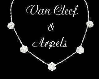 Van Cleef & Arpels 18kDiamond Necklace & Fleurette Stud