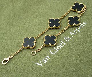Van Cleef & Arpels Vintage 5 Motif Alhambra Bracelet
