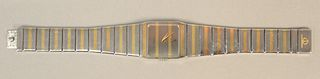 Baume and Mercier men's wristwatch, with gold highlights in original box.