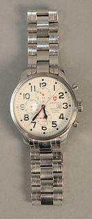 Orbita stainless wristwatch Chronograph Automatic. 47mm.