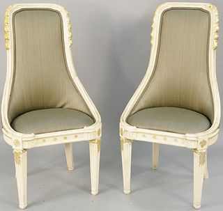 Pair of contemporary chairs. ht. 42 in., seat ht. 18 in. Provenance: The Estate of Ed Brenner, Short Hills N.J.