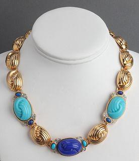 St. John Couture Gold-Tone & Faux-Stones Necklace