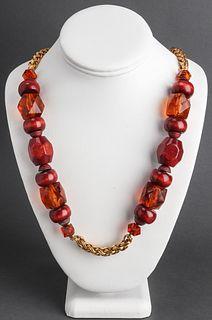 Nina Ricci Gold-Tone & Beaded Necklace