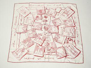 "Hermes ""Instruction sur l'Art"" Silk Scarf, Vintage"