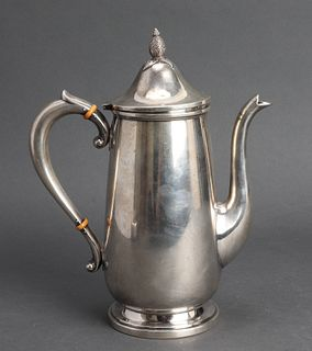 Cartier Sterling Silver Teapot w Pineapple Finial
