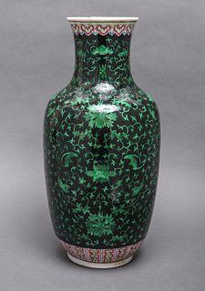 Chinese Polychrome Glazed Porcelain Vase, Antique