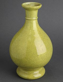 Chinese Imperial Yellow Crackle Glazed Vase