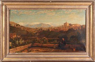 J. M. Carrick Andalucian Landscape Oil on Canvas