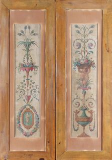 Neoclassical Manner Painted Panels, Pair