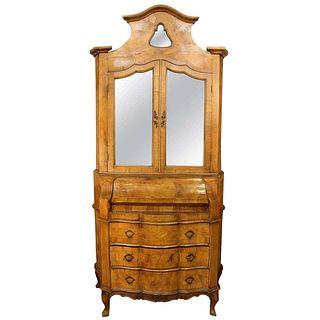 Venetian Secretary Desk / Trumeau Cabinet, 18th C.