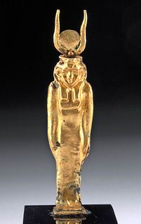 Miniature Egyptian 23K+ Gold Standing Isis