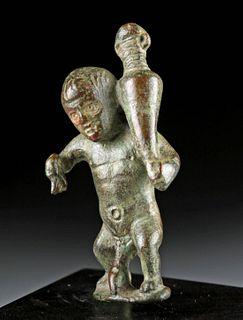 Roman Bronze Erotic Dwarf Figure, ex-Christie's