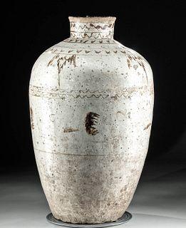Huge Chinese Ming Dynasty Glazed Cizhou Ware Wine Jar