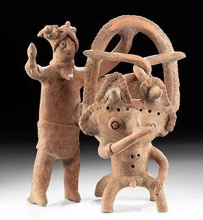 Fabulous Colima Ceramic Figural Incensario ex-Sotheby's