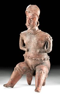 Superb Nayarit Terracotta Seated Woman, TL Tested