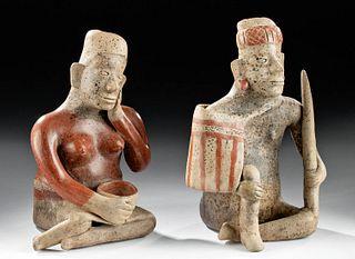 Jalisco Ameca Etzatlan Pottery Seated Couple, TL Tested