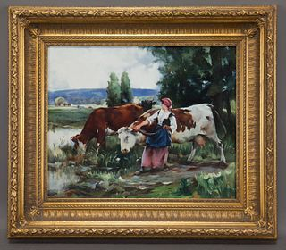 Russian oil painting on canvas, depicting a