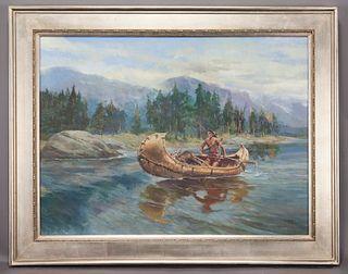 "Newman Myrah ""The Breadwinner"" oil on canvas,"