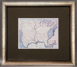 """Vega """"Carte de la Louisiana et du le Cours du"""