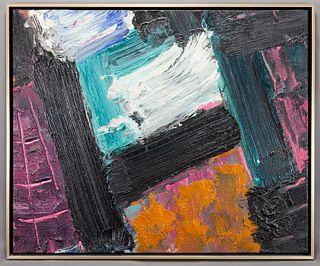 "Edvins Strautmanis ""Schoodic"" oil on canvas, 1979."