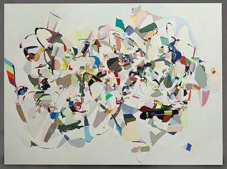 "Trey Egan ""Enhanced Deep Generate"" oil on canvas,"