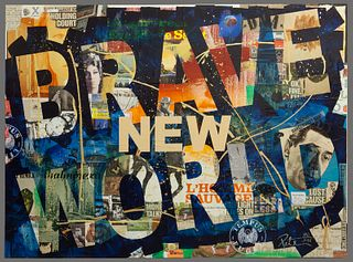 """Peter Tunney """"Brave New World"""" mixed media"""