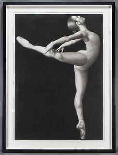 """Joseph Piccillo """"D-16"""" charcoal on paper, 1999."""