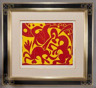 """Pablo Picasso """"Pique (Rouge et jaune)"""" color"""