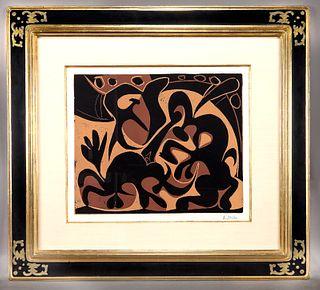 """Pablo Picasso """"Pique (Noir et beige)"""" color"""