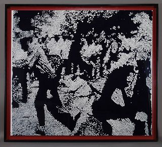 """Vik Muniz """"Race Riots (from Pictures of Ink)"""""""