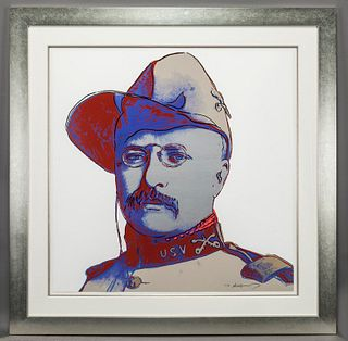 """Andy Warhol """"Teddy Roosevelt (from Cowboys and"""