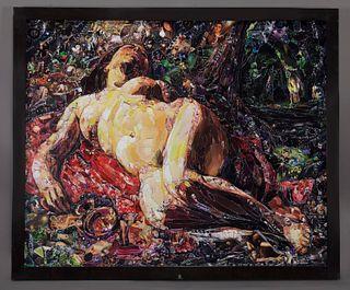 """Vik Muniz """"La Bacchante, after Gustave Courbet"""""""