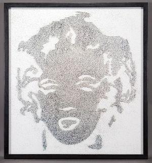"Vik Muniz ""Reversal Grey Marilyn (from Pictures of"