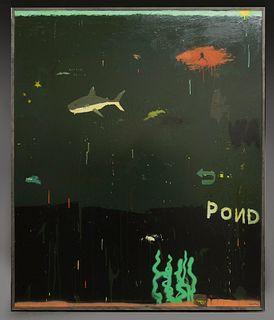 "Justin Lyons ""Small Fish, Big Wish"" mixed media on"