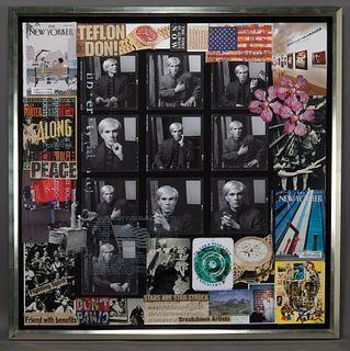 "Peter Tunney ""Warhol (Teflon Don!)"" mixed media"