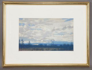 "Brian Cobble ""Untitled (Landscape)"" pastel on"