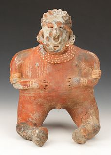 Pre-Columbian Nayarit Pottery Female Figure, Ht. 15""