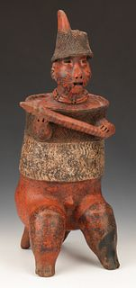 Pre-Columbian Nayarit Pottery Warrior, Ht. 20""