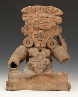 """Pre-Columbian Teotihuacan Style Pottery Figure, Ht.14"""""""