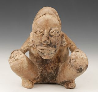 Pre-Columbian Jalisco Pottery Birthing Figure, Ht. 6""